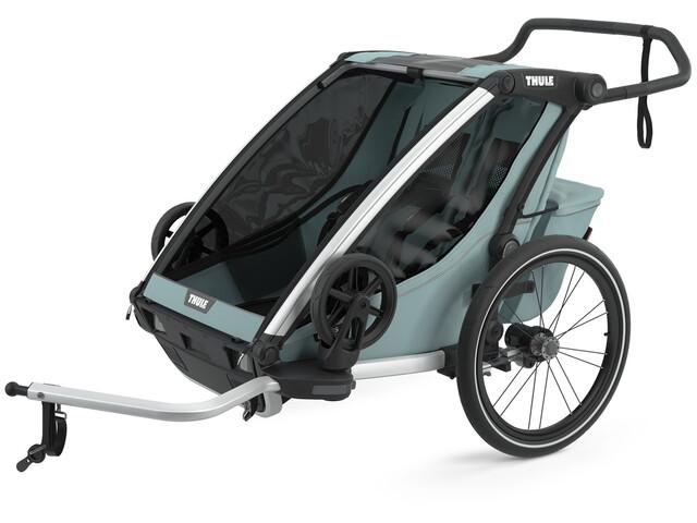 Thule Chariot Cross 2 Bike Trailer, olijf/petrol
